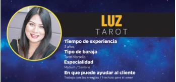 Luz, una de las videntes y tarotistas más solicitadas en Zaragoza que sí cumple con su labor y con su tarot económico telefónico, ¡100% fiable y bueno!