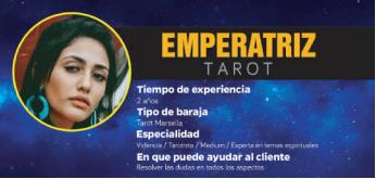 Emperatriz, una profesional de la cartomancia, videncia, predicción y profecías con aciertos comprobados