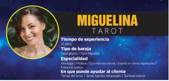 Miguelina, una de las tarotistas favoritas en Barcelona, pues domina el tarot sí o no; un método por teléfono muy bueno y fiable